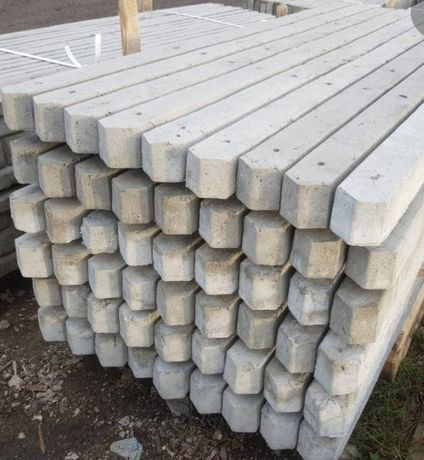 Ogrodzenie betonowe słupki do malin do sadu zbrojone 1.8 m