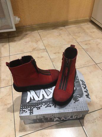 Ботинки для девочки замш