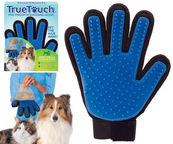 Масажна рукавичка для легкого вичісування шерсті собак і кішок (тварин
