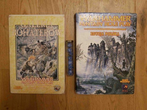 Warhammer Fantasy Roleplay Edycja Polska, galeria bohaterów i 7 kostek