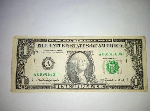 Один Доллар 1988 г.в. - 2 шт и Один Доллар 1999 г.в.