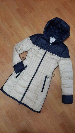Куртка удлинённая зимняя Fine Baby Cat пальто дутик холлофайбер женска