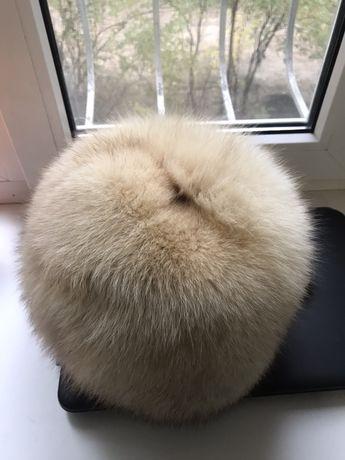 Шапка зимняя мех песец песцовая шапка