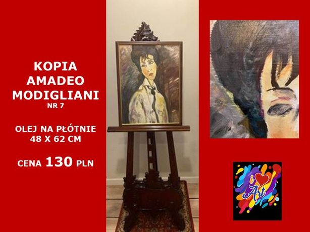 Obraz olejny, kopia A.Modigliani