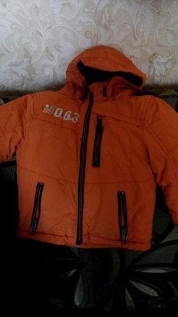 Куртка для мальчика весна- осень на флисовой подкладке + тонкий синтоп