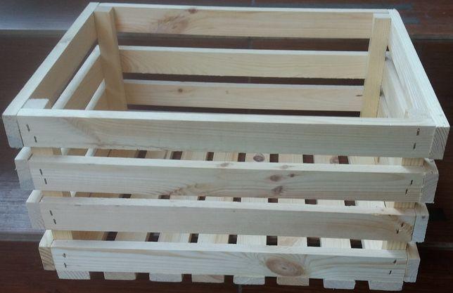 Skrzynka drewniana, ozdobna 40x30x20 na owoce meble regał książki