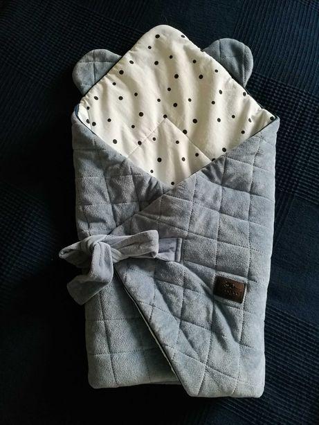 Rożek niemowlęcy Sleepee Mamissima w kropki ma uszy