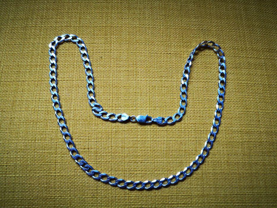 Srebrny łańcuch, łańcuszek, pancerka, próba 925, 54cm Zakrzew - image 1