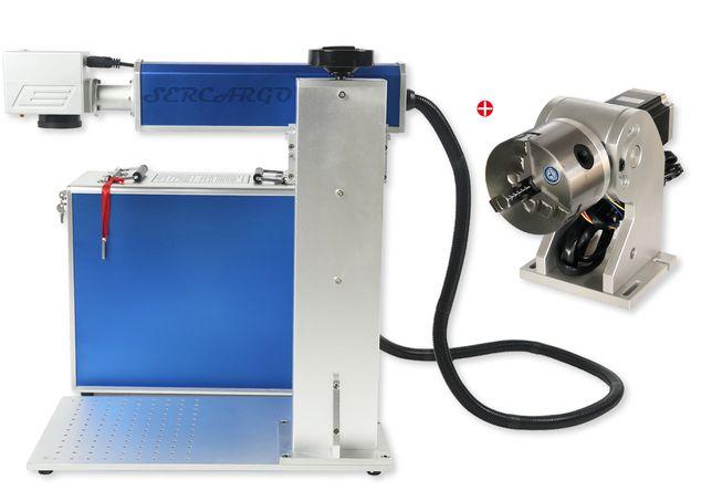 Laser de Fibra 20w Gravação em Metais + Eixo rotativo