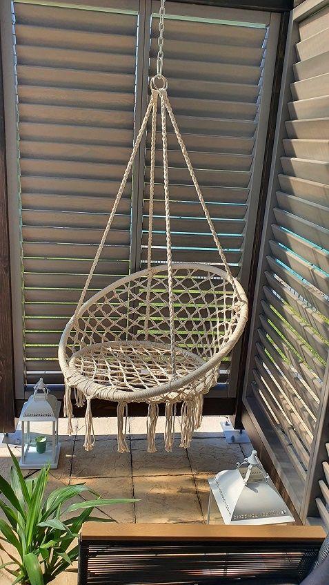 Nowy Fotel brazylijski wiszący bocianie gniazdo huśtawka