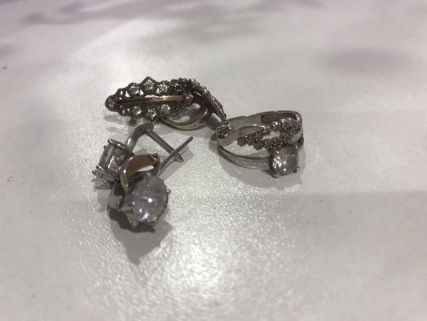 Ювелирные изделия серьги кольцо сережки