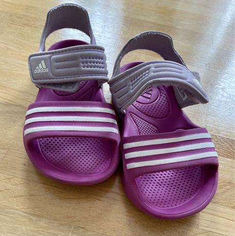 Sandaly Klapki basenowe Adidas + pieluchy do pływania