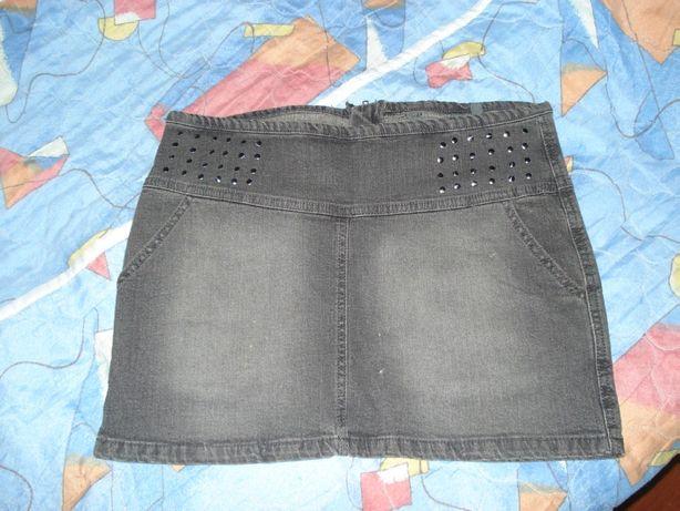 Клевая джинсовая юбка на лето р.38