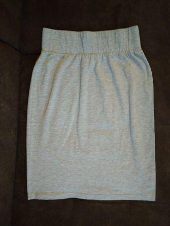 Szara materiałowa, rozciągliwa spódnica S/M (38)