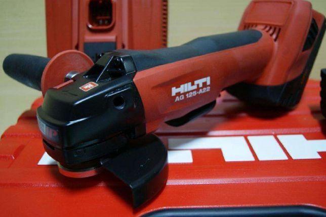 HILTI AG 125 A22 szlifierka kątowa bateria 22v 5,2Ah osadzak BX 3 aku