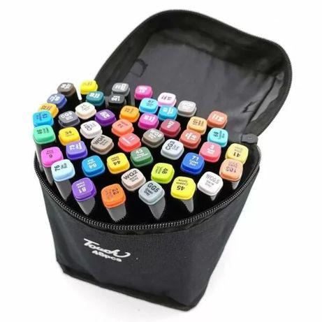Набор скетч-маркеров 48 шт. для рисования двусторонних Touch