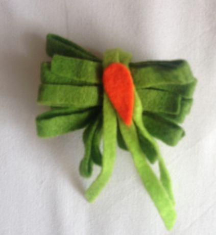 Pregadeira verde handmade