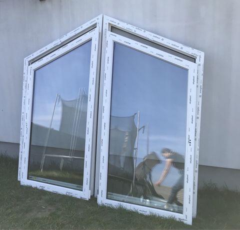 Okno plastikowe dwu skrzydlowe nowe.