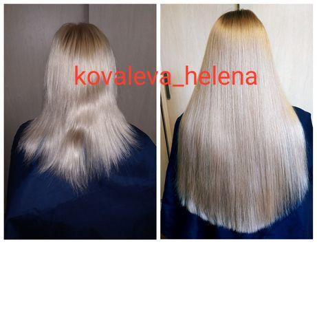 Кератиновое наращивание волос на капсулу