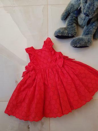 Красное платье 100 % катон.