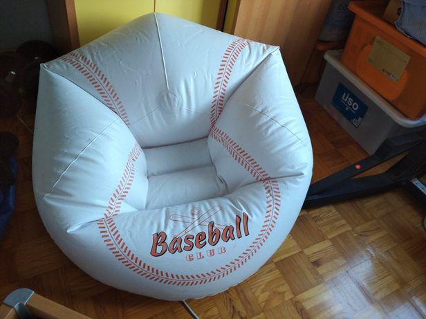 Puff insuflável confortável para interior e exterior -Bola basebol
