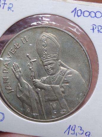 10 000 zł 1987 Papież J P ll srebro