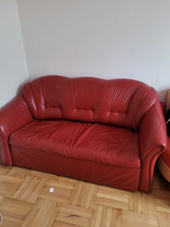 Zestaw skórzany sofa +fotel
