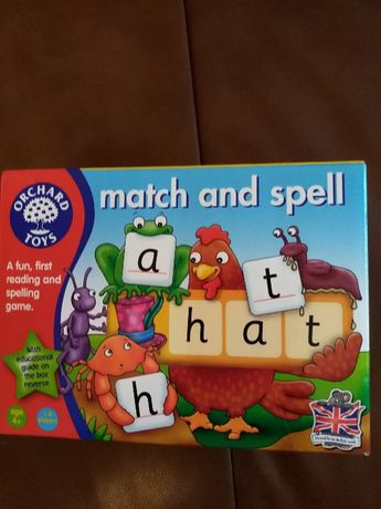 "gra ""match and spell - a fun, first reading and spelling game"" wiek 4+"