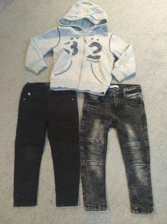 Sprzedam 2 x spodnie i bluzkę na rozmiar 98 cm