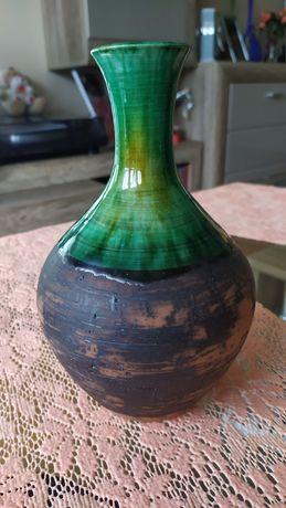 Wazon ceramiczny vintage sygnowany