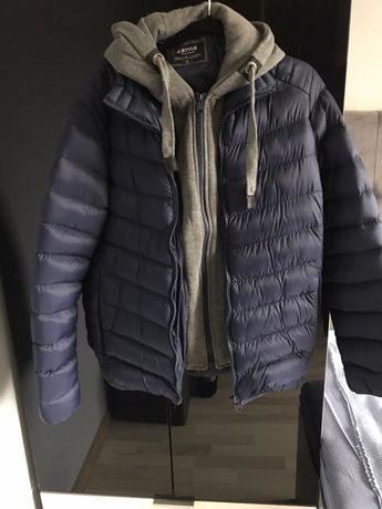 kurtka ciepła, młodzieżowa, z odpinanym kapturem rozm M/L