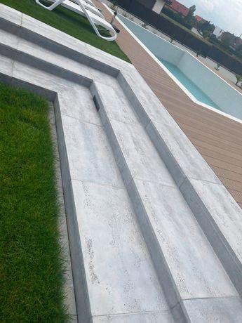 SCHODY TARASY PODŁOGI CHODNIKI beton architektoniczny - płyty betonowe