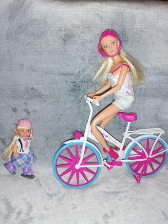 Lalka Barbie z rowerem