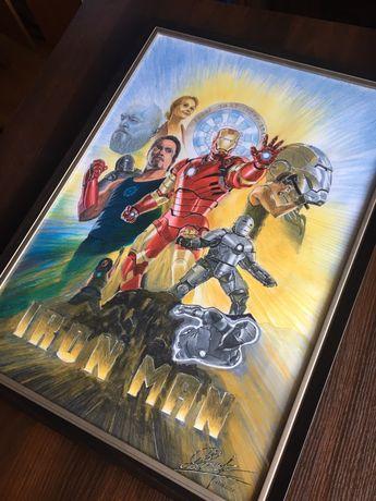 Картина Iron Man/Железный Человек/Постер/Ручная робота