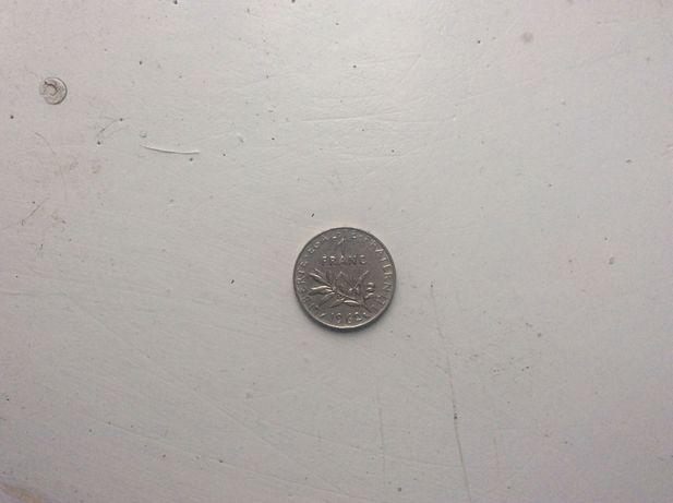 Монета 1 франк 1962 год