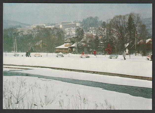pocztówka - Wisła 1980 - widok na Partecznik