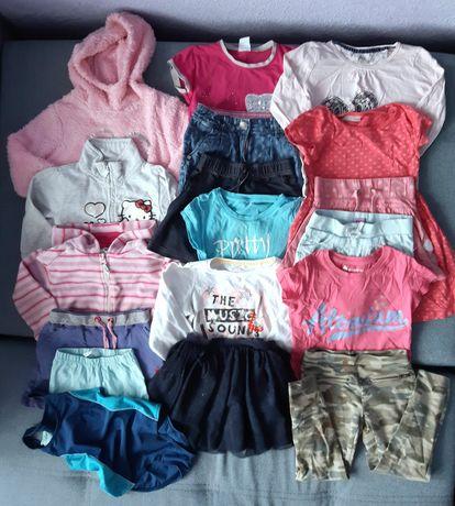 Paczka ubranek paka ubrań 98 104 dla dziewczynki dziewczynka