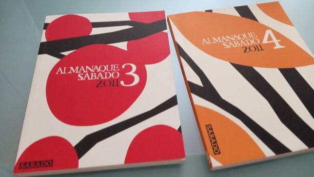 """Livros 1 e 2 da Coleção """"Almanaque"""" da revista Sábado"""