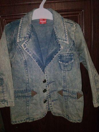 Нарядный пиджак джинсовый