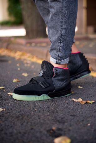 Мужские кроссовки Nike Air Yeezy 2 NRG Black / Solar Red найк 41-45