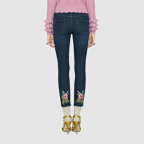 Gucci оригинал Италия дизайнерские синие джинсы скинни