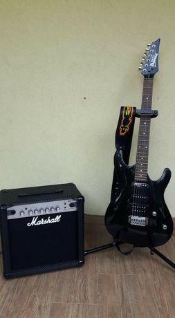 Gitara elektryczna Ibanez GSA60 i piecyk marshall MG15CFR