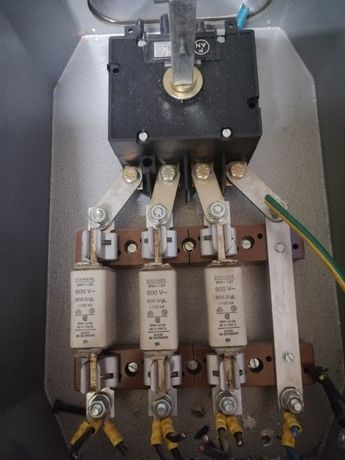 Szafka zasilajaca łącznik wkładka bezpiecznikowa siemens 3NA1 120  80a