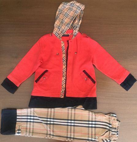 Conjunto casaco e calças Burberry