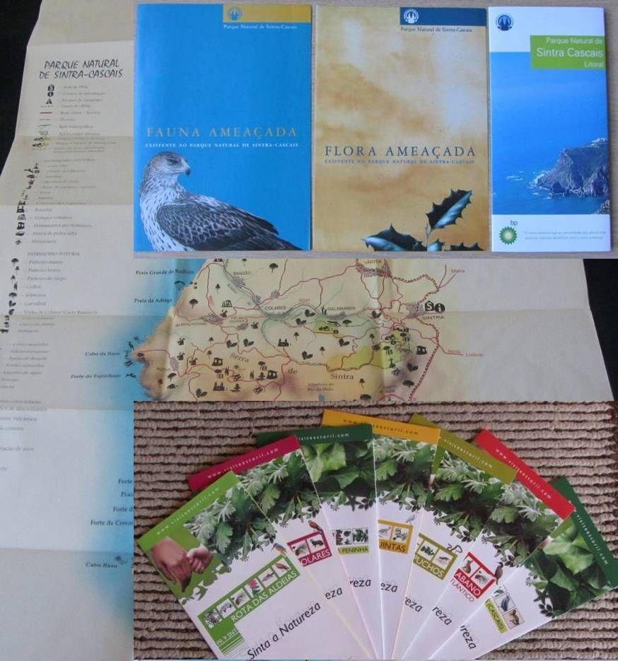 PN de SINTRA-CASCAIS - Mapa, Percursos, Fauna, Flora (folhetos)