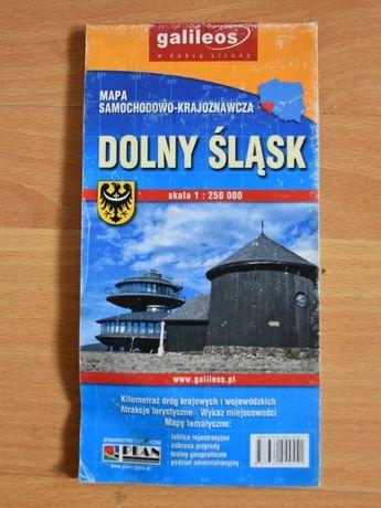 Dolny Śląsk – mapa samochodowo-krajoznawcza, rozkładana 1:250 000
