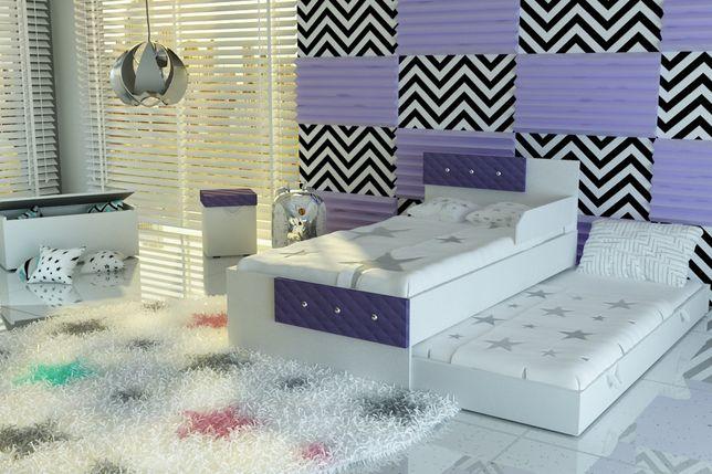 Białe łóżko dla dziecka ,piętrowe,wysuwane+2materace,DOSTAWA GRATIS