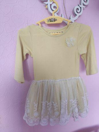 Жёлтое пышное платье для малышки