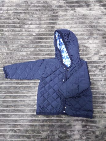 Двусторонняя весенняя курточка на мальчика  1 год 86 см