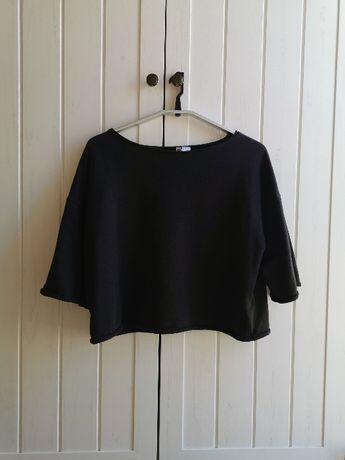 H&M czarna krótka bluzka 38 M